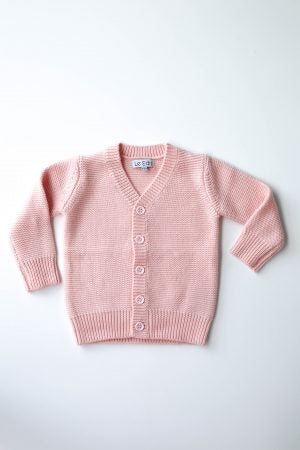 Merino Cardigan - Blush