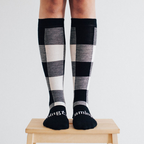 Women's Merino Wool Socks Knee High - POMPOM