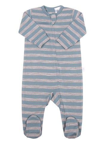 Merino Bodysuit Grey Stripe