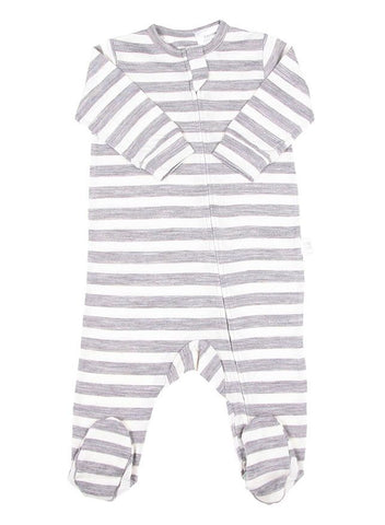 Merino Bodysuit Navy Stripe