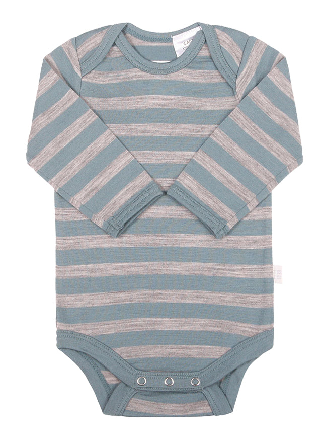 Merino Bodysuit Green Stripe