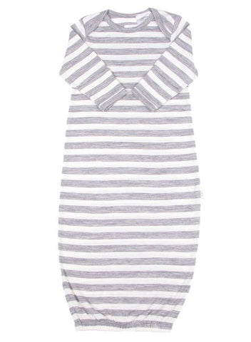 Wool Wraparound Jumpsuit Dusty Dove Stripe