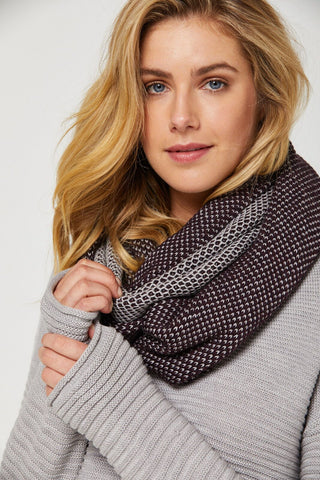 Mesh Loop Merino Scarf - Midnight