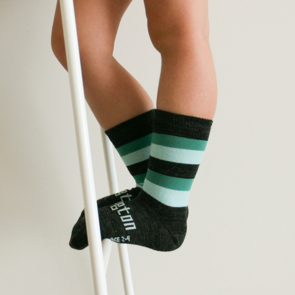 Merino Wool Socks Crew Length - Neptune Kids