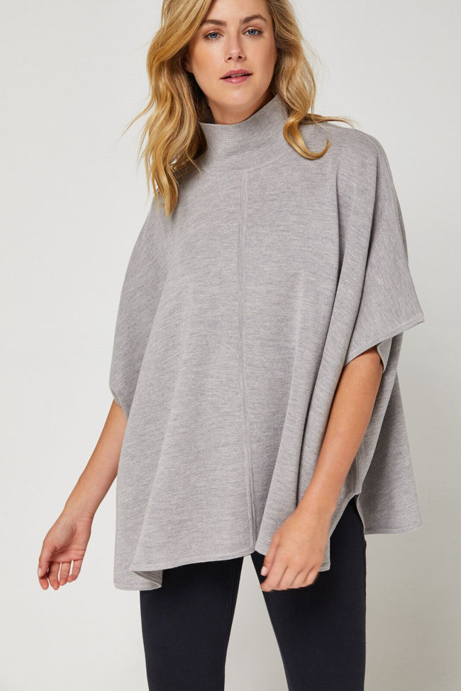 Newport Merino Cape - Grey