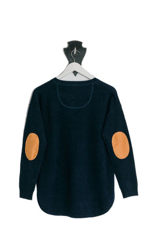 Childrens Navy Jumper with Liberty Patches