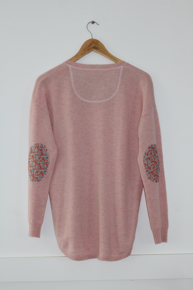 Women's Pink Jumper with Liberty Patches