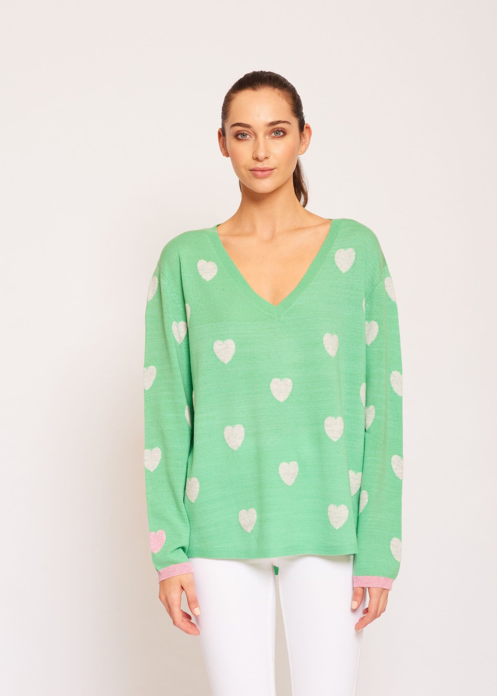Womens Happily Ever After Jumper - Spearmint