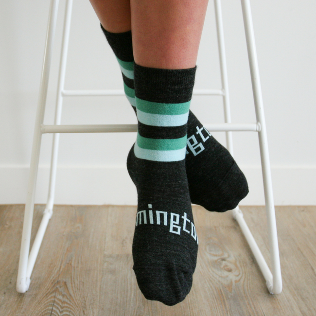 Women's Merino Wool Socks Crew Length - Neptune