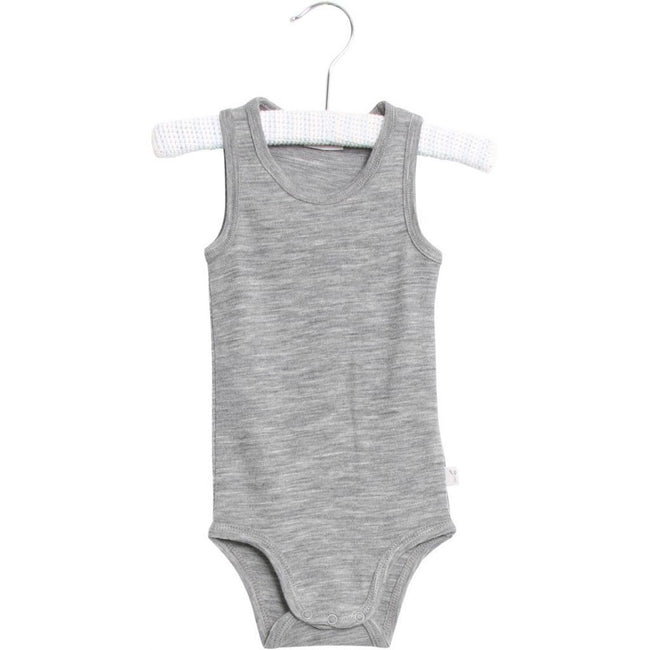 Body Sleeveless Wool Melange Grey
