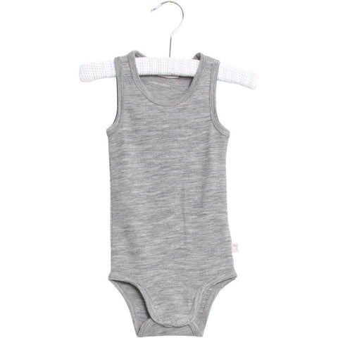 Body Sleeveless Wool Eggshell