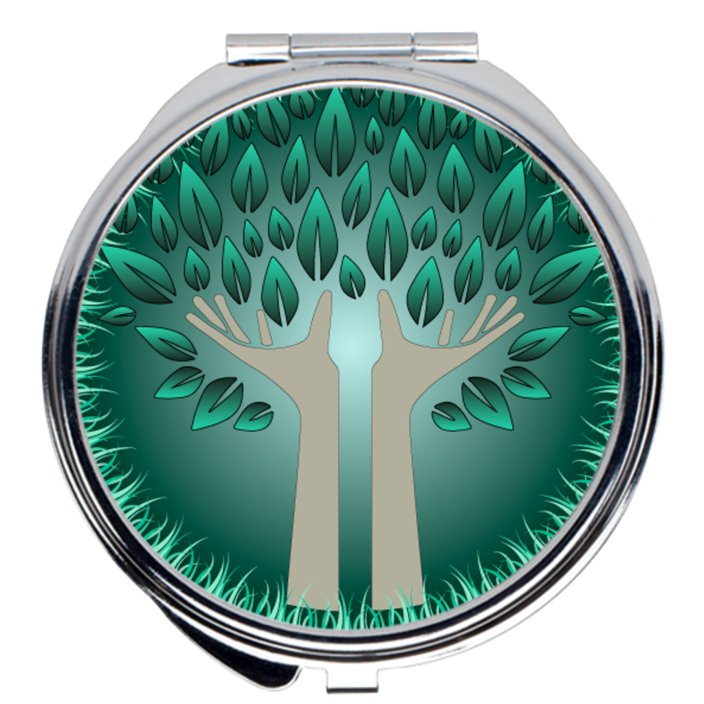 Hands of Earth Compact Mirrors