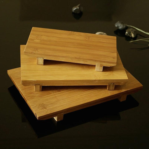 Bamboo Sushi Plate Rectangular Sushi Platform Cooking Sashimi Japanese And Korean Cuisine Japanese Tableware Serving Geta Plate