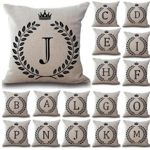 1Pcs Crown Letter 43*43cm Cotton Linen Throw Pillow Cushion Cover Home Decoration Sofa Decor Decorative Pillowcase 40166