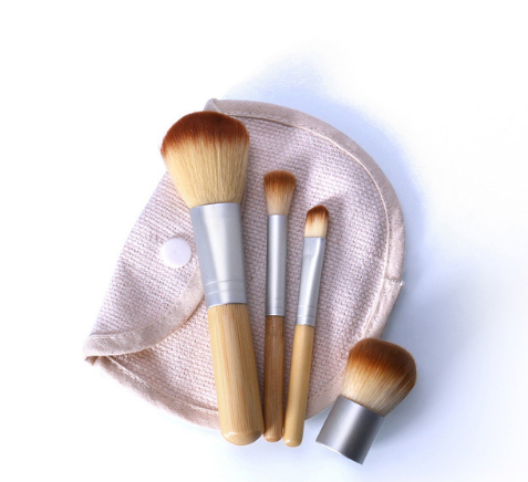 O.TWO.O 4pcs/lot Bamboo Brush Foundation Brush make-up Brushes Cosmetic Face Powder Brush Tool