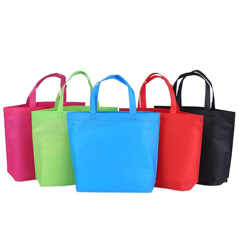 1PC Nonwoven Grocery Foldable Bag Shopping Storage Reusable Eco Tote Bag Handbag