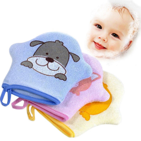 Cartoon Super Soft Cotton Baby Bath Shower Brush Cute Animal Modeling Sponge Powder Rubbing Towel Ball for Baby Children