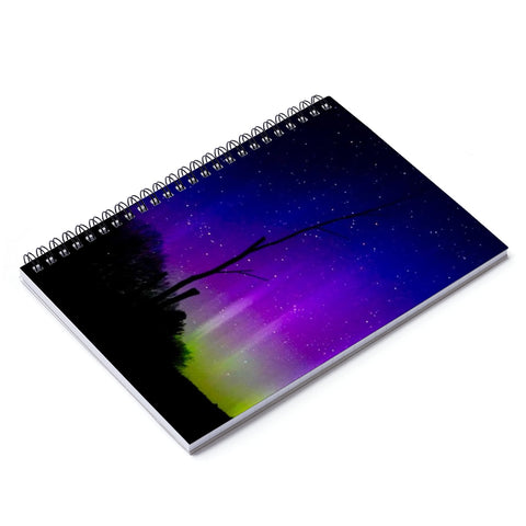 Aurora Borealis - Ruled Line Spiral Notebook