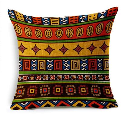 Woven Linen Geometric Cushion Cover Sofa Home Decorative Throw Pillow Bohemia Paisley Style SIZE 45*45