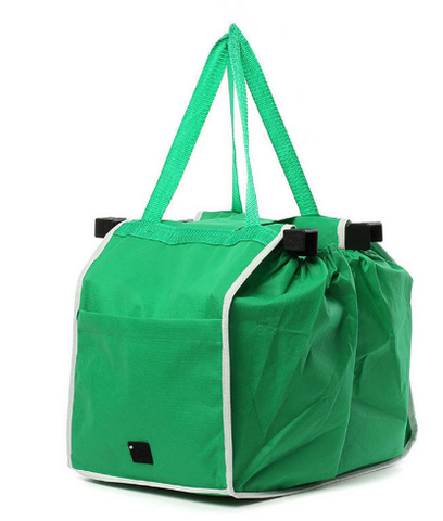 Grab Shopping Bag Foldable Tote Eco-friendly Reusable Large Trolley Supermarket Large Capacity Bags