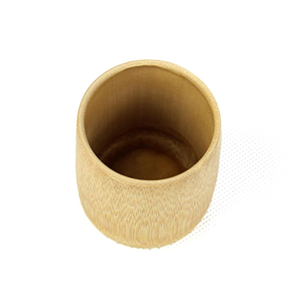 Green Natural Pure Hand Made Bamboo Cup Water Cup Bamboo Round Tea Cup Home House Supplies