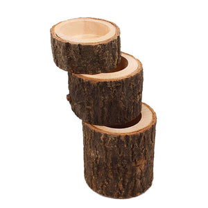 Mini Wooden Candle Holders Decoration Flower Pot for Home Bar Garden Pillar Design Tealight Candlestick Holder 3 Size Option