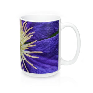 Purple Clematis - White Mug 15 oz