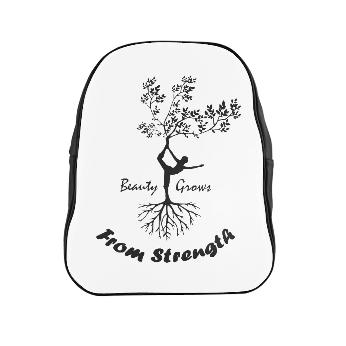Vegan Leather Beauty Strength School Backpack