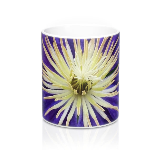 Purple Clematis - White Mug 11oz