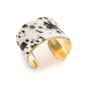 The Black and White Cow Speckled Cuff