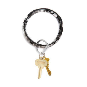 Big O Key Ring - Embossed Leather