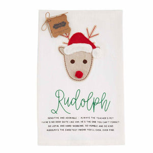 Mud Pie Reindeer Tea Towels