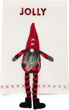 Load image into Gallery viewer, Mud Pie Dangle Leg Gnome Hand Towels
