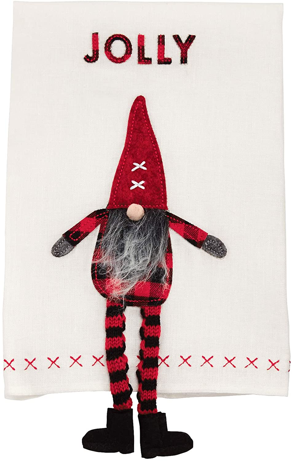 Mud Pie Dangle Leg Gnome Hand Towels
