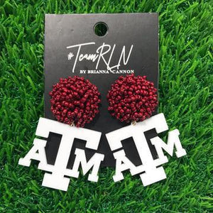Texas A&M Acrylic ATM Logo with Beaded Top