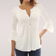 Elegant Ruffles Women Flare Sleeve Loose Shirt