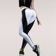 Heart pattern mesh splice legging athleisure fitness clothing sportswear
