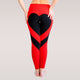 Heart Pattern Mesh Splice Legging Fitness Clothing Sportswear