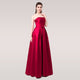 Formatura Bridal Strapless Sleeveless Wine Red Danni Slim Long Prom Dress Custom Party Formal Evening Gown