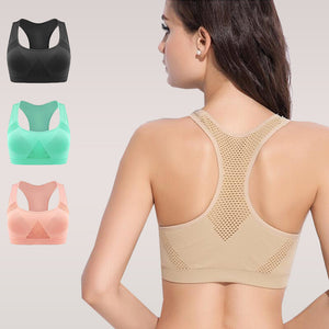 6f575d70f3294 ... New Absorb Sweat Seamless Sports Bras for Women Wire free Padded Yoga  Bra with Underwear