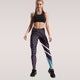 Women High Waist leggings fashion striped fitness slim legging athleisure