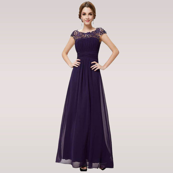 Elegant Long Evening Dresses with Lace Appliques