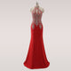 Red Evening Dress Prom Party Gown Long Formal Women Dress  Sexy Cut Out Design Mermaid