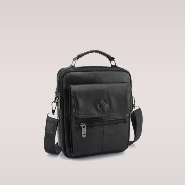 New Fashion Men Genuine Leather Messenger Bag Male Oil Wax Leather Crossbody Shoulder Bag First Layer Cowhide Men Bag Briefcase