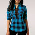 Long Sleeve Shirt Office Lady Cotton Lace up Shirt