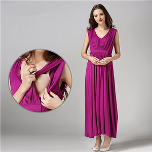356133b0617ec ... Long Maternity Nursing pregnant dress for Pregnant Women