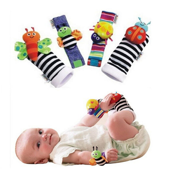 New Hot Toy Baby Rattle toy Rattle Foot Socks Garden Bug Wrist
