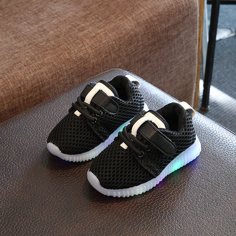 new product 5c125 afdab New cool fashion toddler first walkers solid color casual baby sneakers
