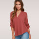 V-neck Chiffon Female  Blouses Shirt Fashion