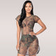 can you see me - CAMO sheer dress